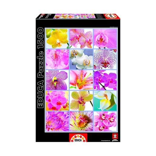 Educa Borrás - Collage de Flores - Puzzle 1500 Piezas