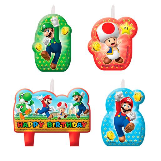 Super Mario - Pack 4 Velas