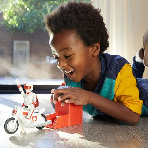 Toy Story - Figura Duke Caboom con Moto Toy Story 4
