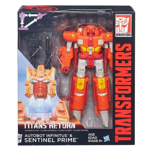 Transformers - Autobot Infinitus y Sentinel Prime - Generations Voyager Titan