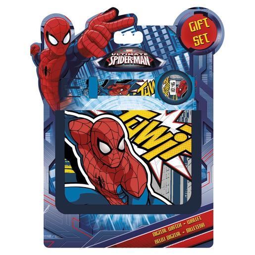 Spider-Man - Set Reloj Digital y Billetera