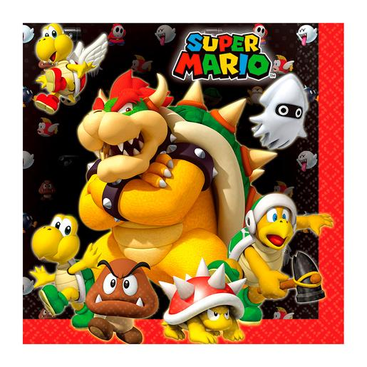 Super Mario - Pack 16 Servilletas