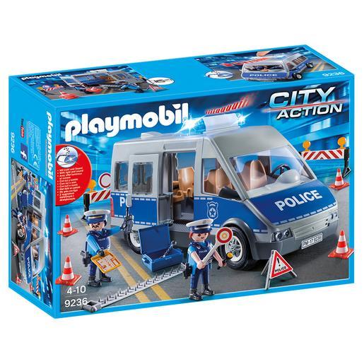 Playmobil - Furgón de Policía con Control de Tráfico - 9236