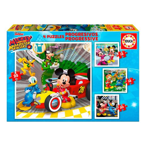 Educa Borras - Mickey y los Superpilotos - Puzzle Progresivo
