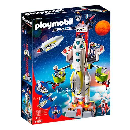 Playmobil - Cohete con Plataforma de Lanzamiento - 9488