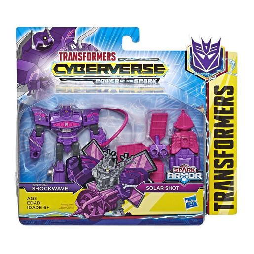 Transformers - Shockwave - Figura Spark Armor Transformers Cyberverse