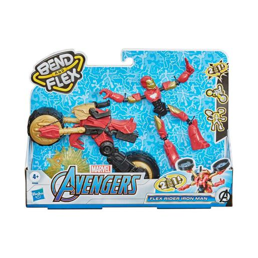 Los Vengadores - Iron Man - Vehículo Bend and Flex