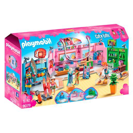 Playmobil - Paseo Comercial con 3 Tiendas - 9078