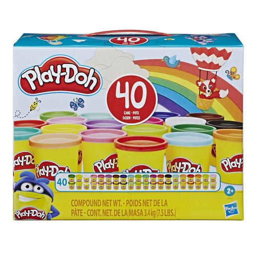 Play-Doh - Pack 40 Botes de Colores
