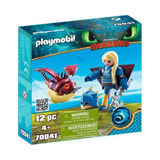 Playmobil - Astrid con traje volador y Globoglob - 70041