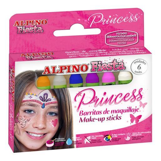 Alpino Fiesta - Estuche 6 Unidades de Maquillaje Princess