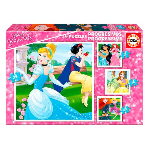 Educa Borras - Princesas Disney - Puzzle Progresivo