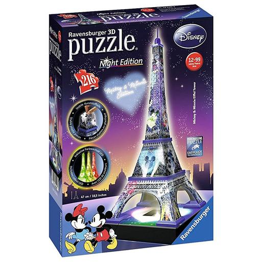 Ravensburger - Puzzle Torre Eiffel Disney Night Edition