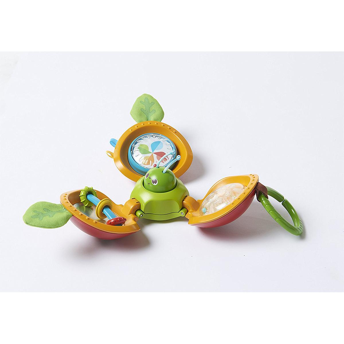 con 4 actividades para el desarrollo del beb/é Tiny Love MANZANA EXPLORA Y JUEGA Juguete de actividades con forma de manzana que rueda cuando est/á cerrada e inspira cuando est/á abierta