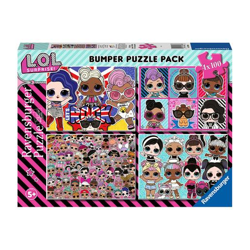 Ravensburger - LOL Surprise - Pack Puzzles 4x100 Piezas