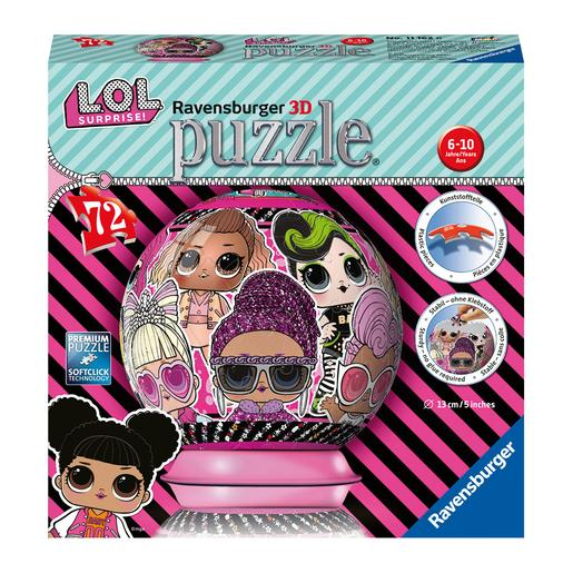 Ravensburger - LOL Surprise - Puzzleball 3D 72 Piezas