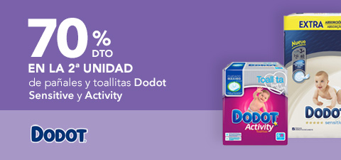 Descuento Dodot Activity y Dodot Sensitive