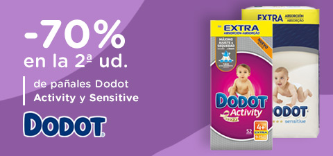 -70% 2ud Pañales Dodot Activity y Sensitive